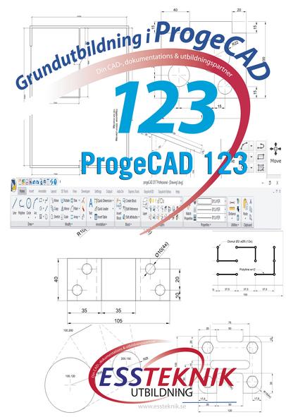 ProgeCAD 123 Självstudier Grundutbildning + Video + Kursbok